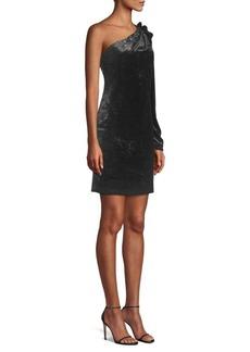 BCBG Max Azria Woven One Shoulder Dress