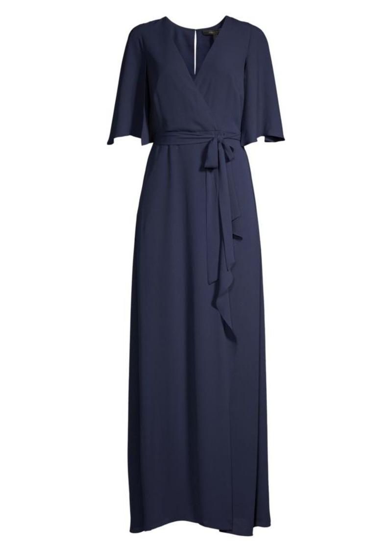 BCBG Max Azria Wrap Capelet Gown