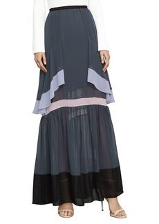 BCBG Max Azria Yuliana Color-Blocked Maxi Skirt