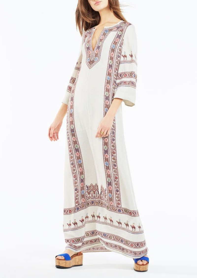 BCBG Maya Tapestry Print Maxi Dress
