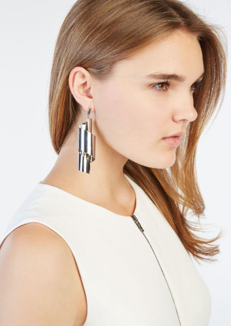 BCBG Metal Swirl Earrings