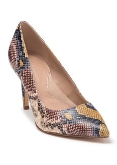 BCBG Middea Snakeskin Embossed Pointed Toe Pump