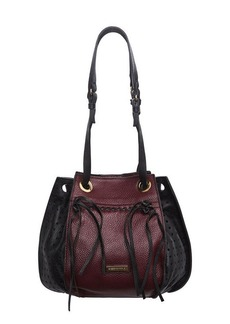 BCBG Mikko Perforated Leather Bucket Bag