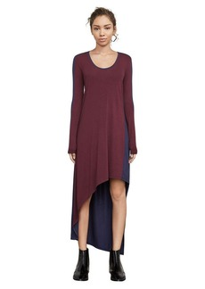 Miney Color-Blocked Asymmetrical Dress