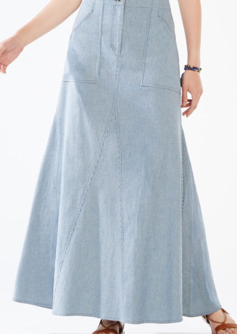 BCBG Miya Striped Maxi Skirt