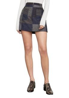 Mollee Patchwork A-Line Miniskirt