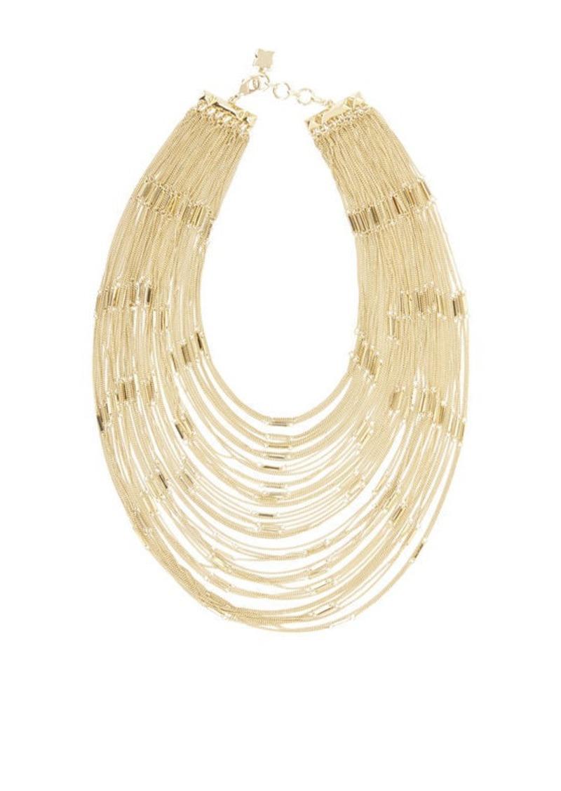 BCBG Multi Layered Bar Chain Necklace