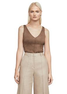 Mya Faux-Suede Bodysuit