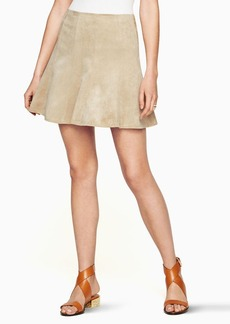 Nicky Faux-Suede Skirt