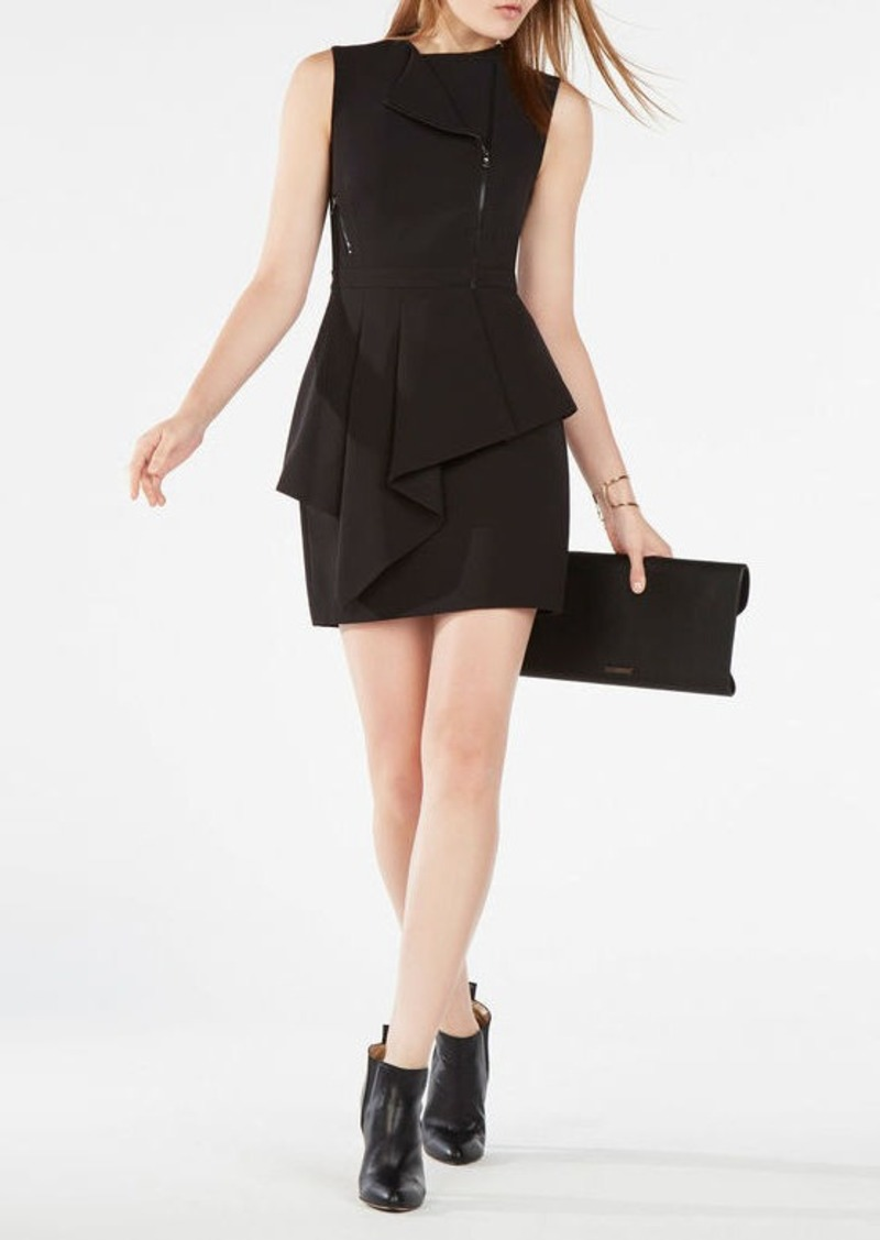 BCBG Nikki Zip-Front Peplum Dress
