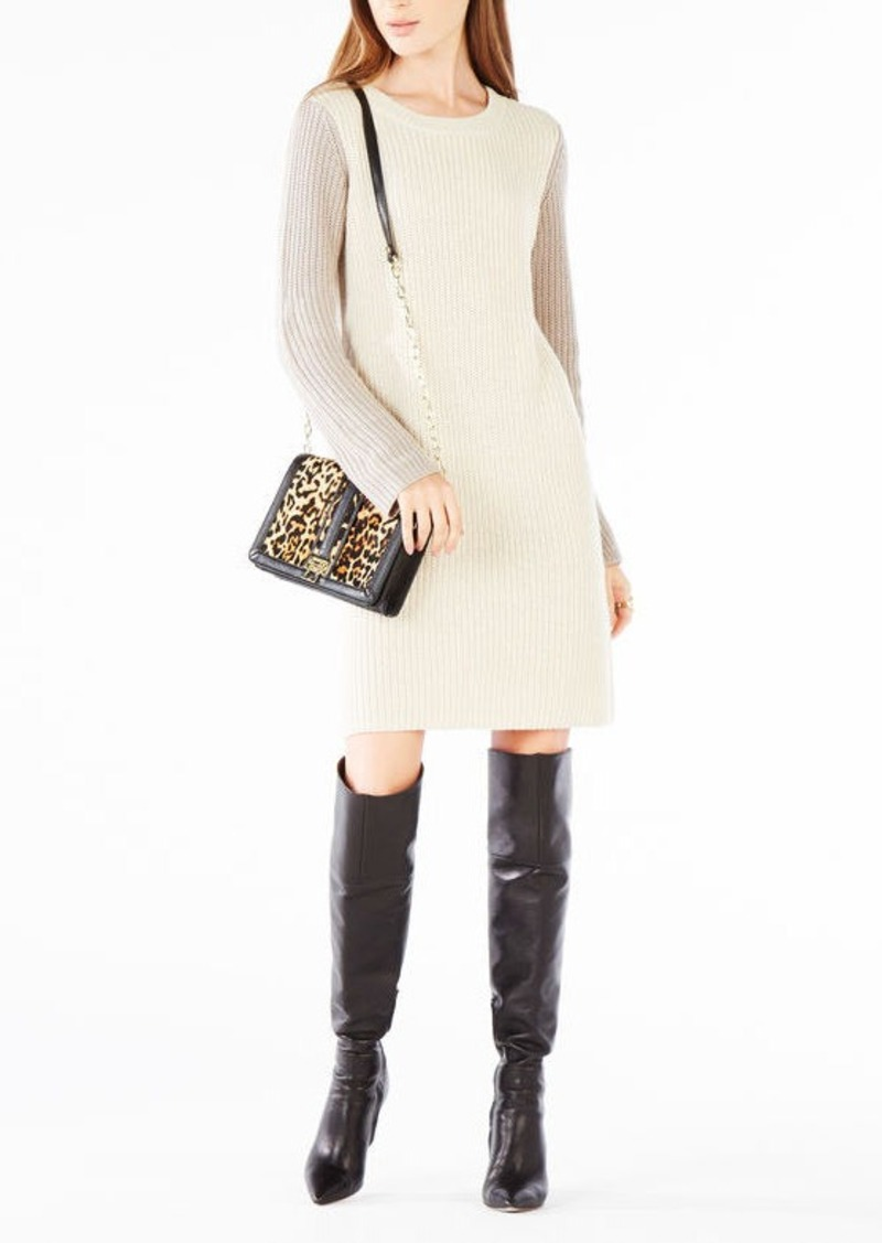 BCBG Nylah Asymmetrical Sweater Dress