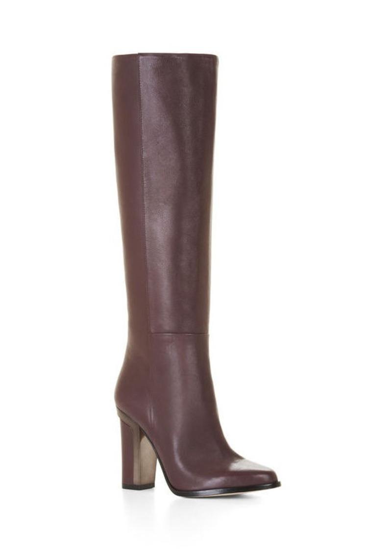 BCBG Oak High-Heel Leather Knee Boots