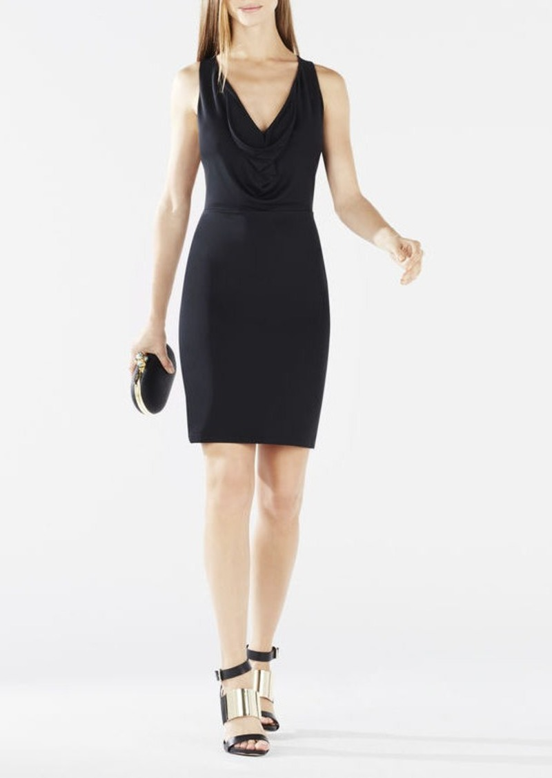 BCBG Oriele Cowl-Neck Racerback Dress