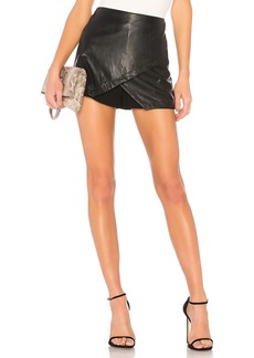 Overlap Skort In Black