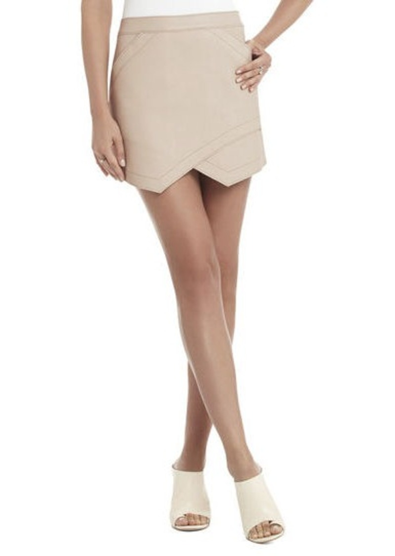 bcbg owen bonded faux leather skirt skirts shop it to me