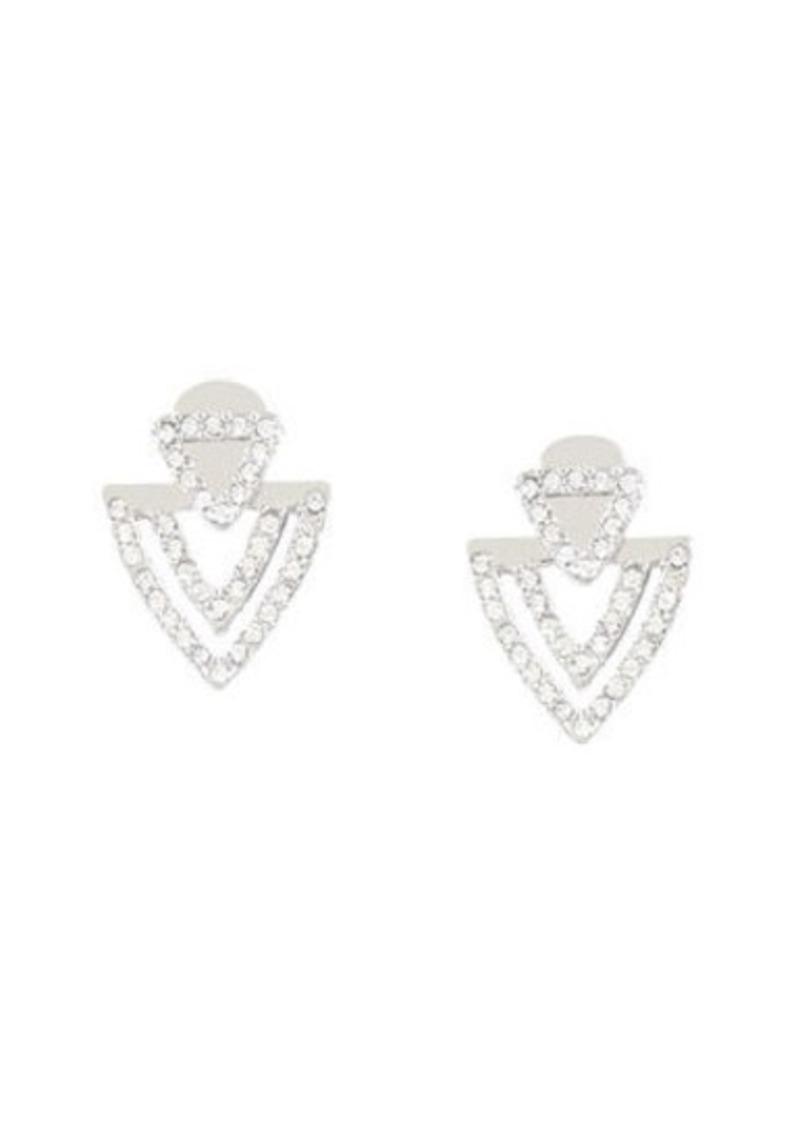 BCBG Pave Chevron Earrings
