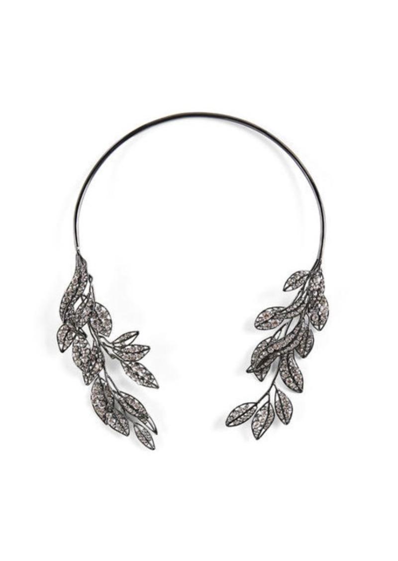 BCBG Pave Stone Leaf Collar