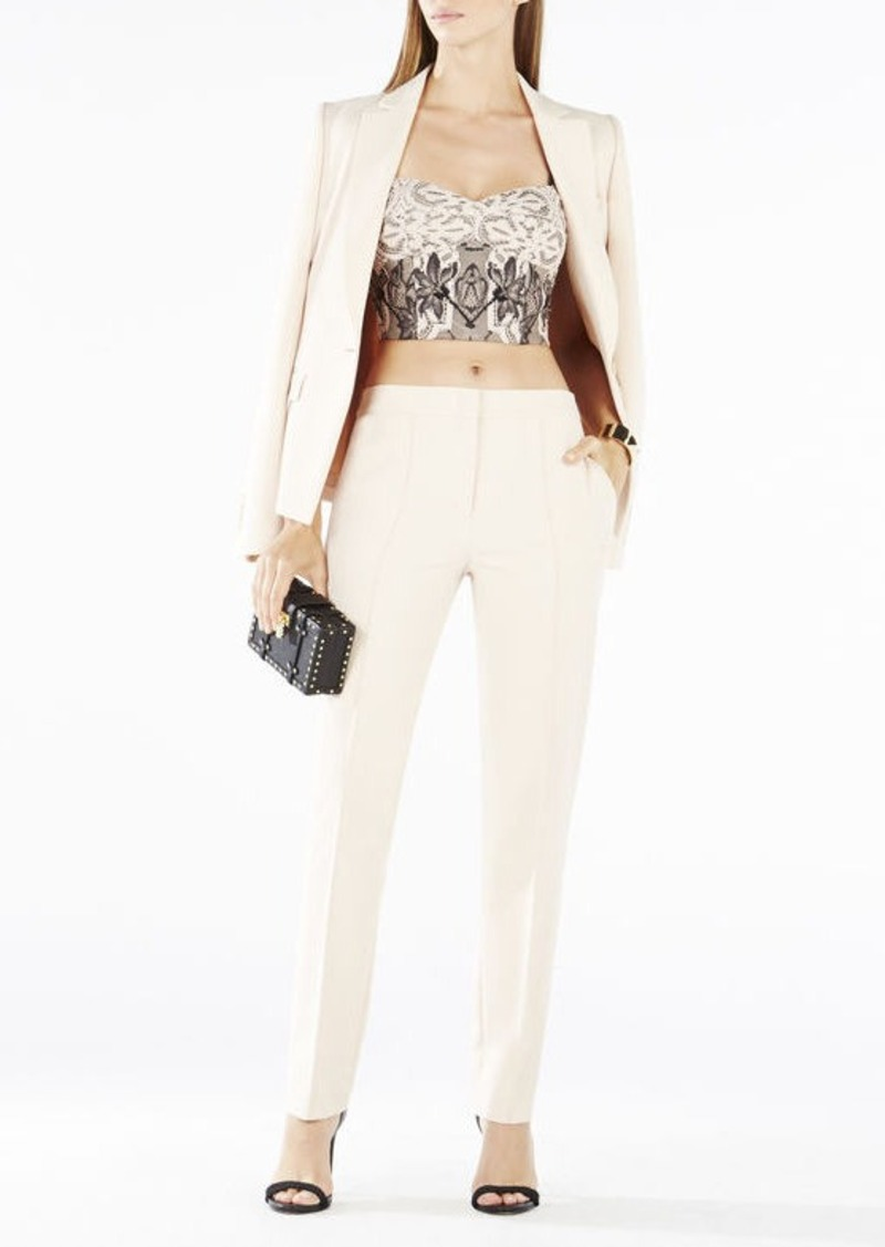 BCBG Pearle Two-Tone Floral Lace Crop Top