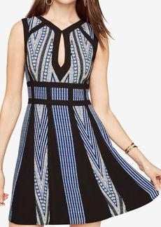 Perla Print-Blocked Dress