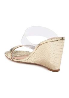 BCBG Pina Metallic Embossed Wedge Sandal