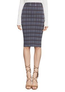 Plaid Jacquard Pencil Skirt