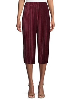 BCBG Pleated Velvet Goucho Pants
