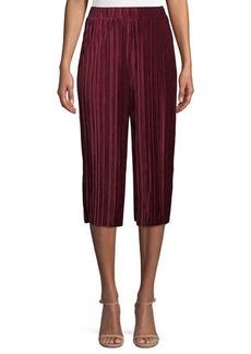 Pleated Velvet Goucho Pants