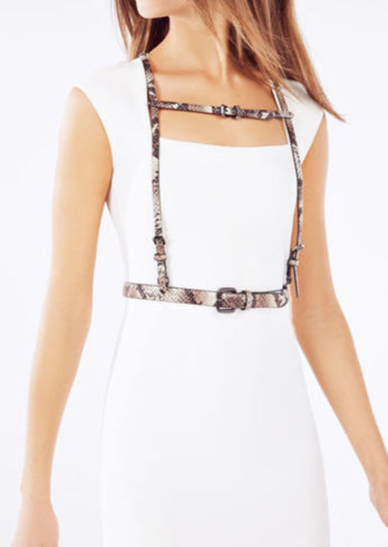 BCBG Python Faux-Leather Harness