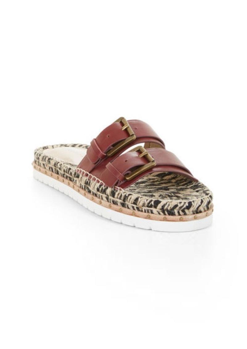 BCBG Quince Flat Leather Sandal
