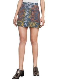 Raya Floral-Print Miniskirt