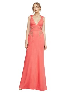 Reese Lace-Insert Satin Gown