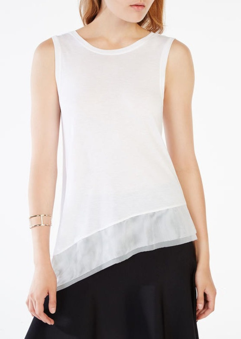 BCBG Renita Mesh Trim High-Low Top