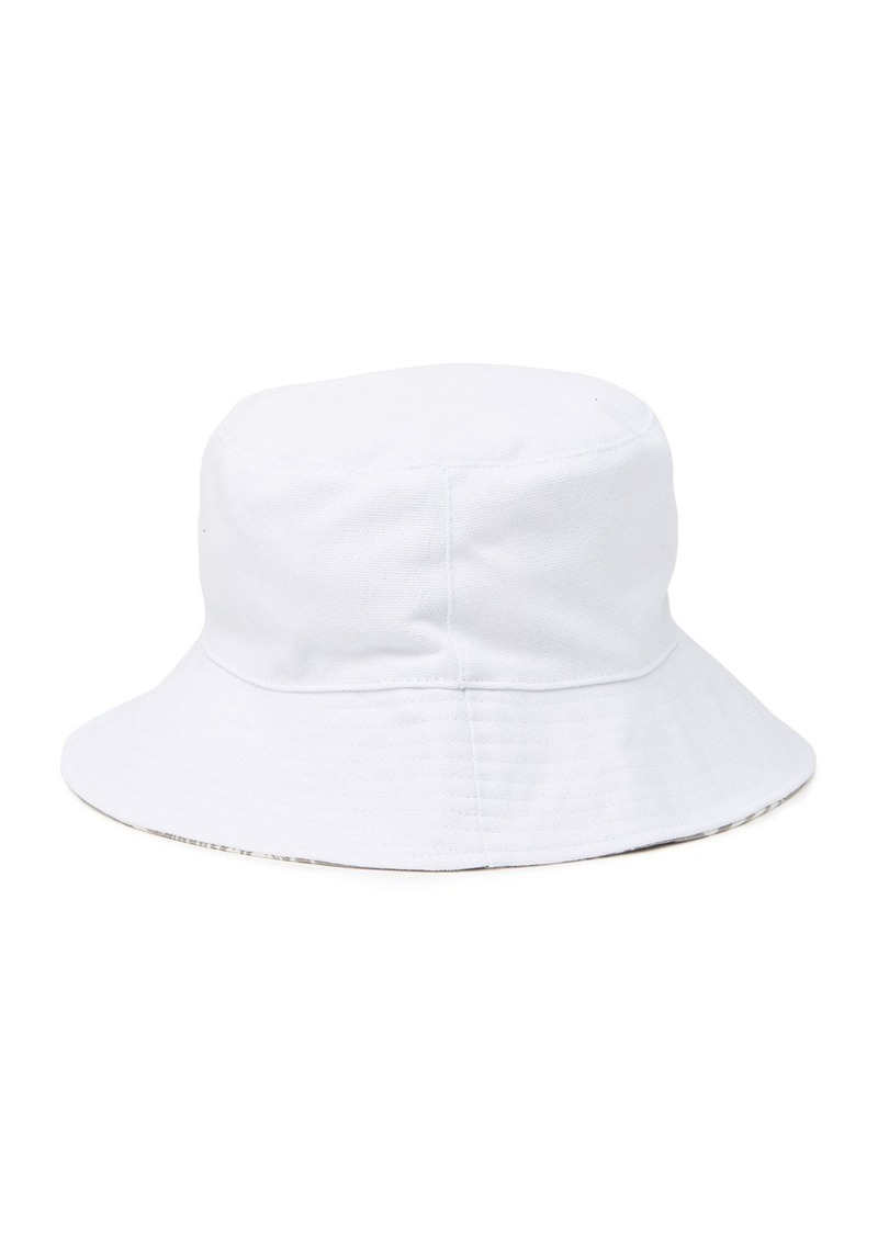 BCBG Reversible Palm Denim Bucket Hat
