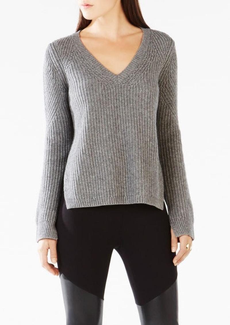 BCBG Rudy Open-Back Sweater