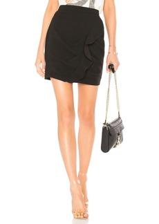 Ruffle Mini Skirt In Black