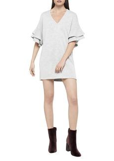 Ruffle-Sleeve Tunic Dress