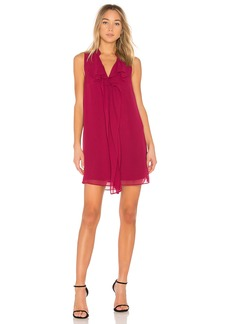 Ruffle Tent Dress In Garnet