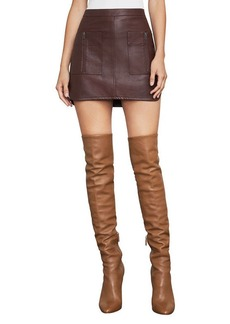 Sabina Faux-Leather Miniskirt