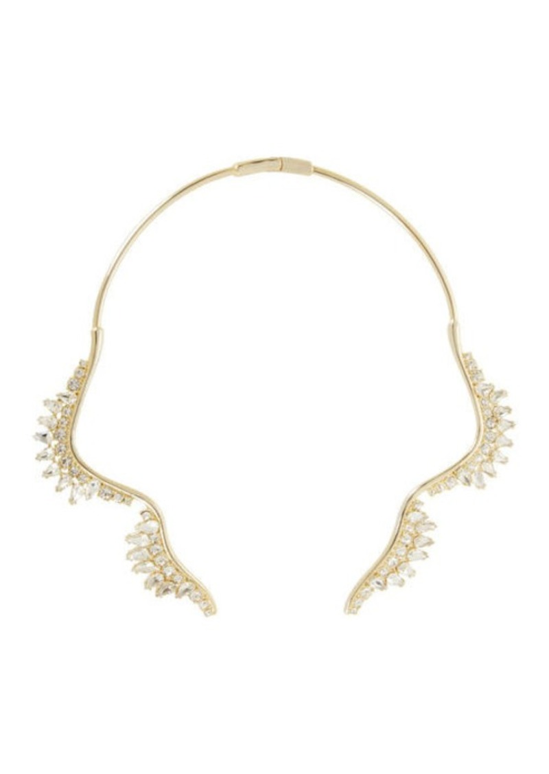 BCBG Scalloped Stone Collar Necklace