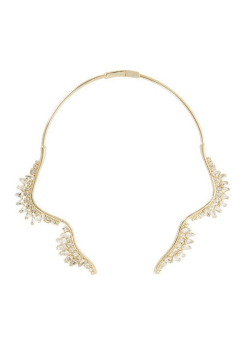 BCBG Scalloped Stone Collar Necklace
