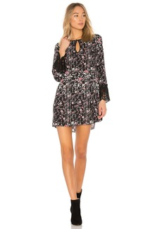 BCBG Shirt Dress With Lace Trim In Black Combo