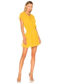 Short Sleeve Blouson Dress In Golden Rod