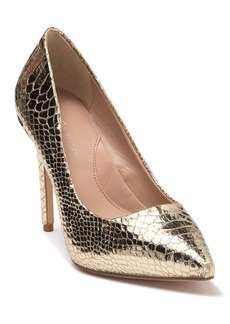 BCBG Skie Snakeskin Embossed Pointed Toe Pump