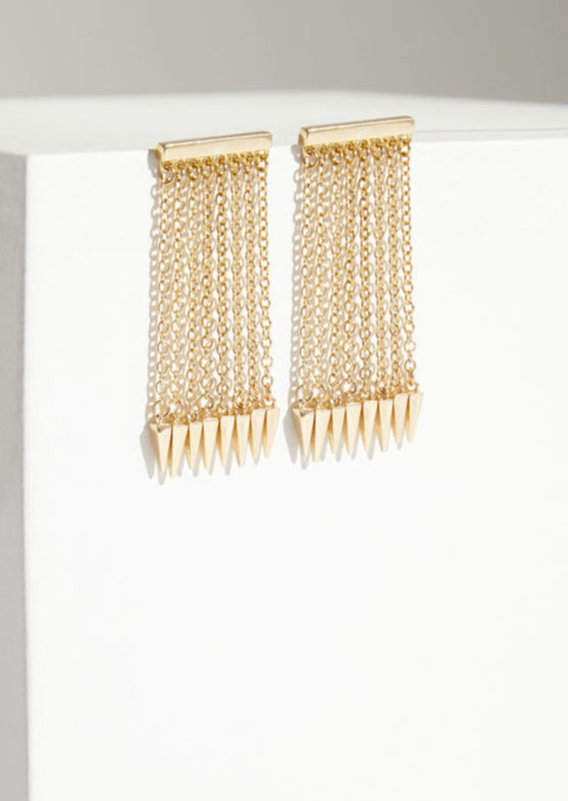 BCBG Spike Chain Ear Crawlers
