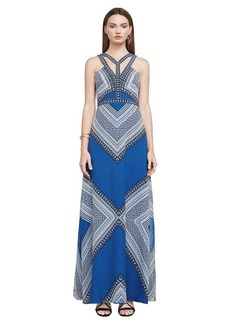 Stella Mosaic-Print Maxi Dress