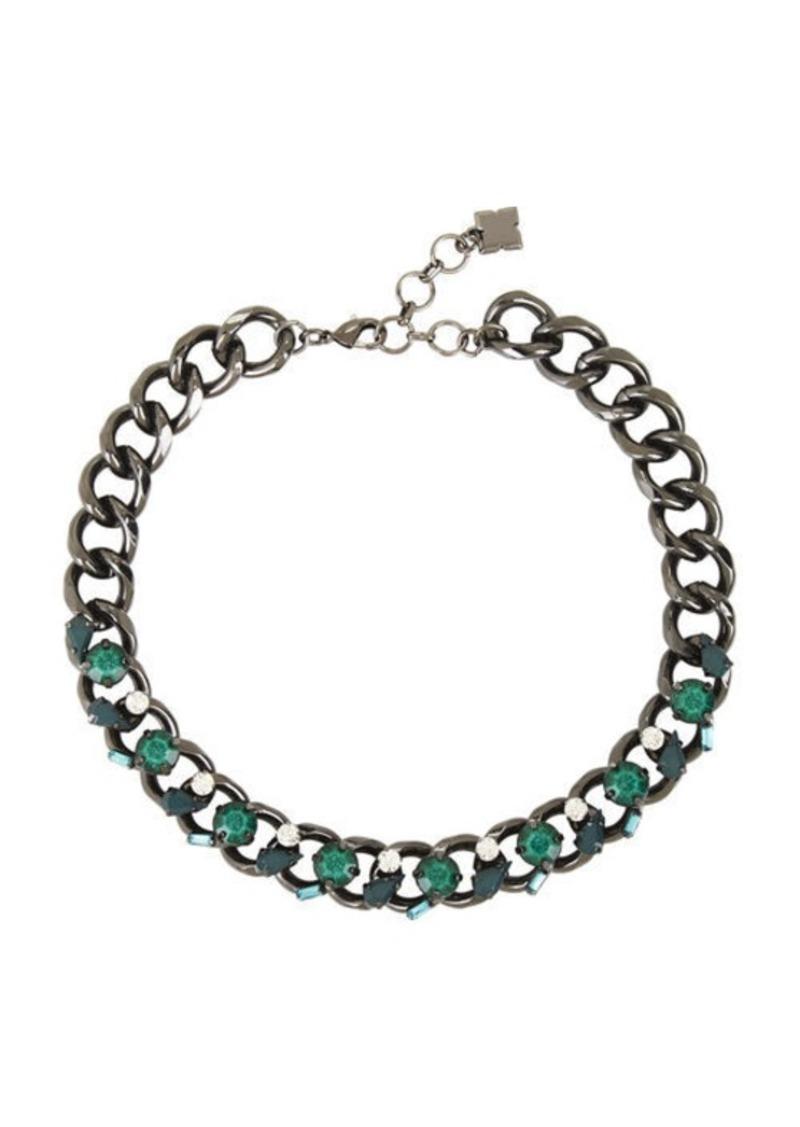 BCBG Stone Chain Necklace