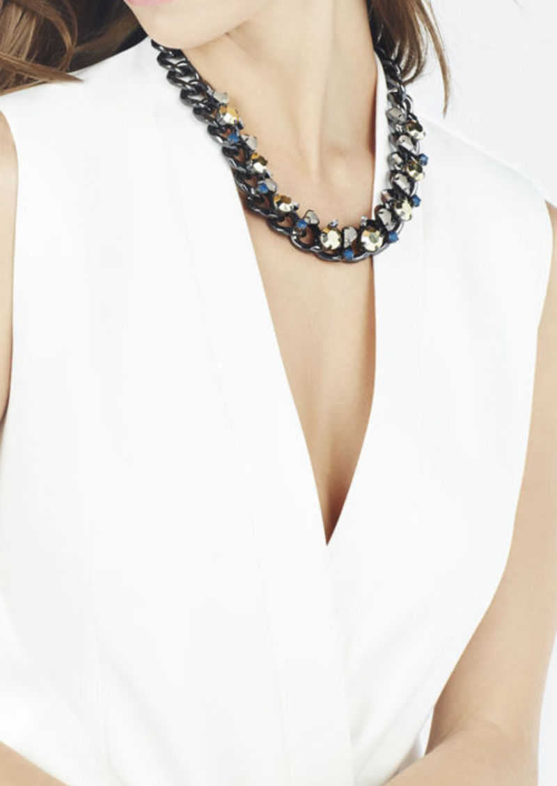 BCBG Stone Chain Necklace