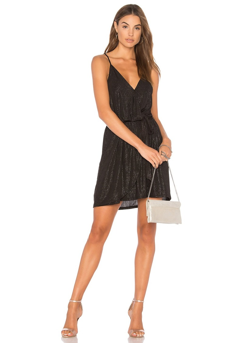 BCBG Surplice Dress In Black