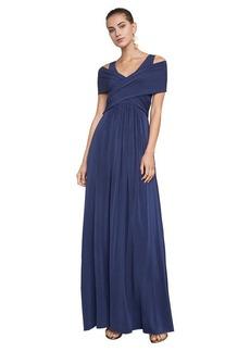 Tamara Shoulder-Drape Jersey Gown