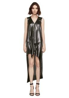 Tara Metallic High-Low Dress